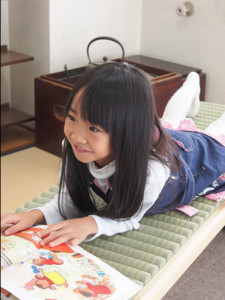 Igusa tatami roll & child