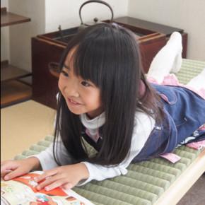 Igusa tatami roll & child