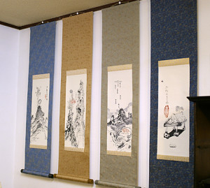 many hanging scroll