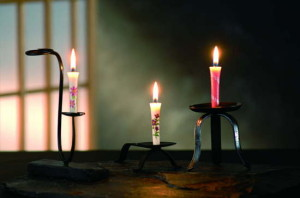 three candle