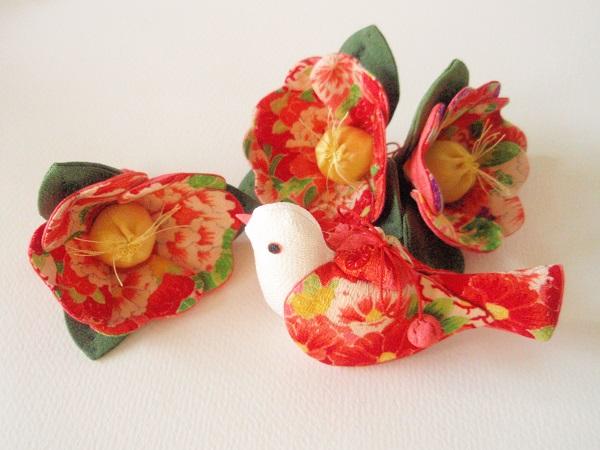 camellia & bird
