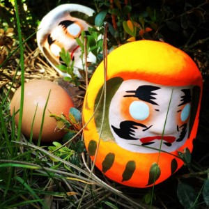 colourful Daruma doll