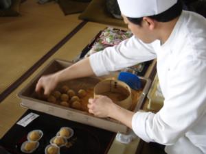 Japanese sweet craftsman