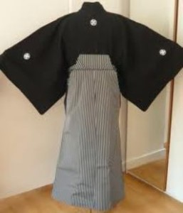 family crest men's kimono