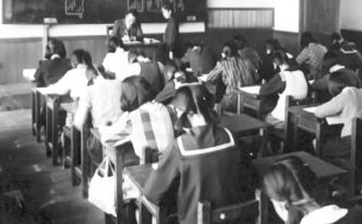 old Japanese class room