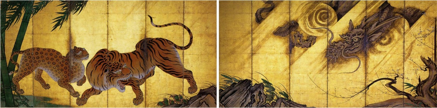 Japanese painting tiger