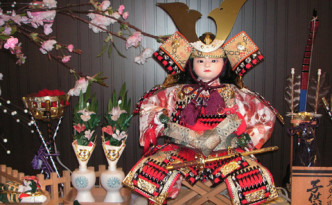 child samurai doll